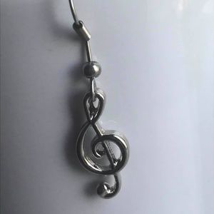 Sidewalk Music Jewelry - New Treble Clef Earrings Musical Notes